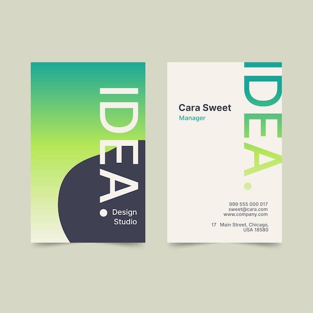 Plantilla de tarjeta de visita de degradado pastel vector gratuito