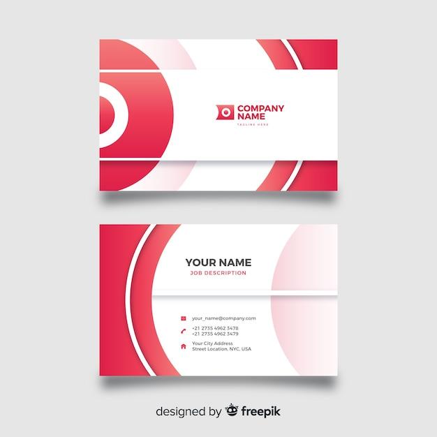 Plantilla de tarjeta de visita de diseño abstracto vector gratuito