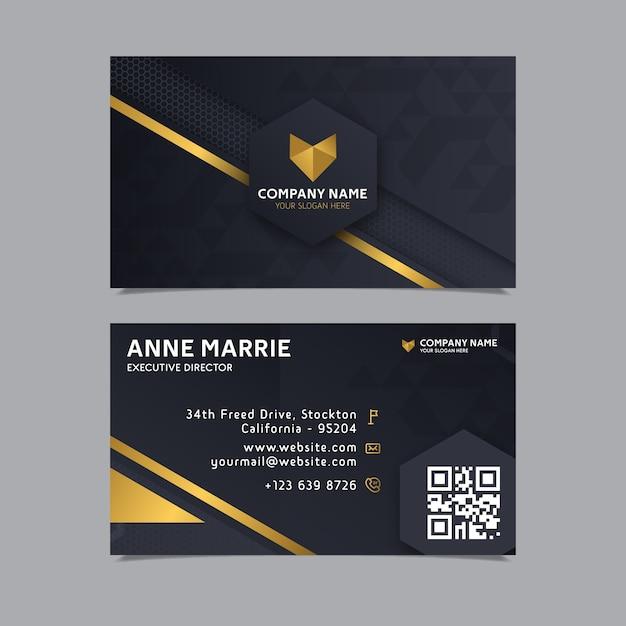 Plantilla de tarjeta de visita de diseño elegante vector gratuito