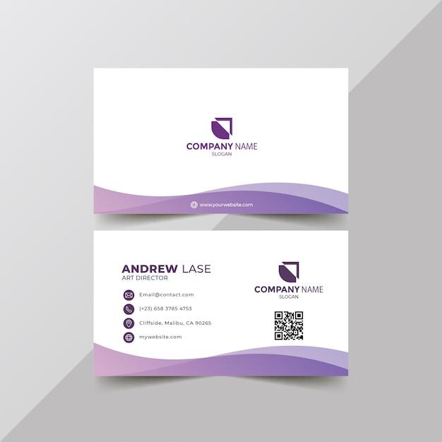 Plantilla de tarjeta de visita elegante Vector Premium