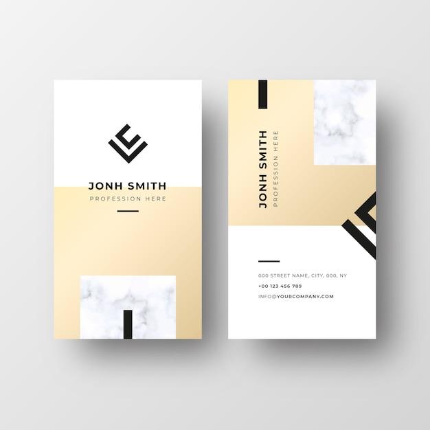 Plantilla de tarjeta de visita elegante vector gratuito