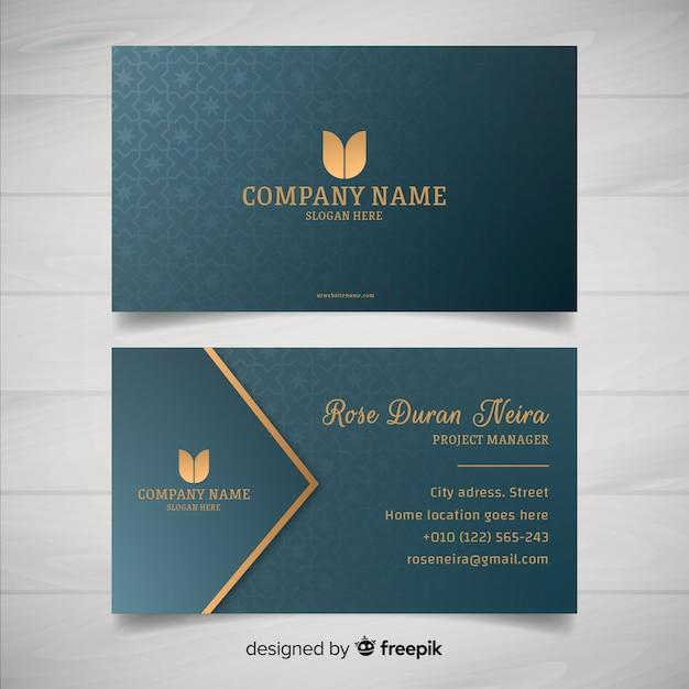 Plantilla de tarjeta de visita estilo elegante vector gratuito