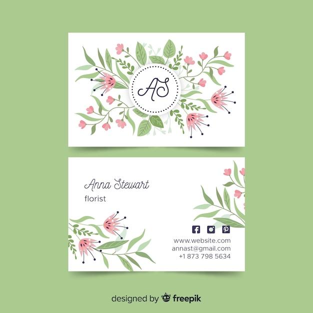 Plantilla de tarjeta de visita en estilo elegante vector gratuito