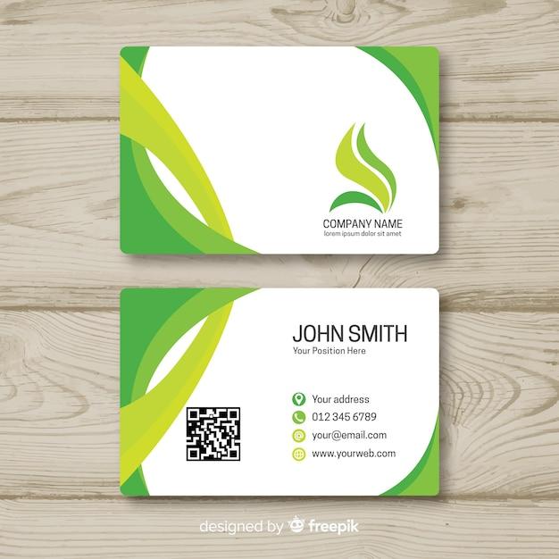 Plantilla de tarjeta de visita en estilo flat vector gratuito