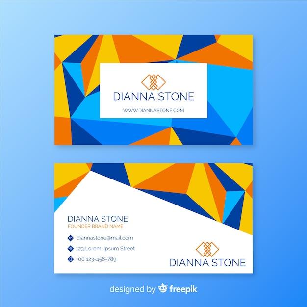 Plantilla de tarjeta de visita estilo geométrico vector gratuito
