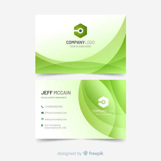 Plantilla de tarjeta de visita con formas abstractas vector gratuito