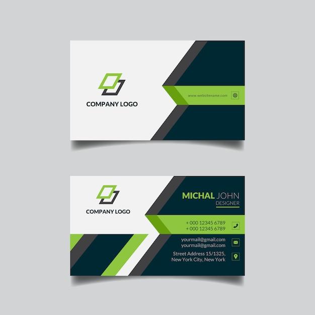 Plantilla de tarjeta de visita geométrica abstracta Vector Premium