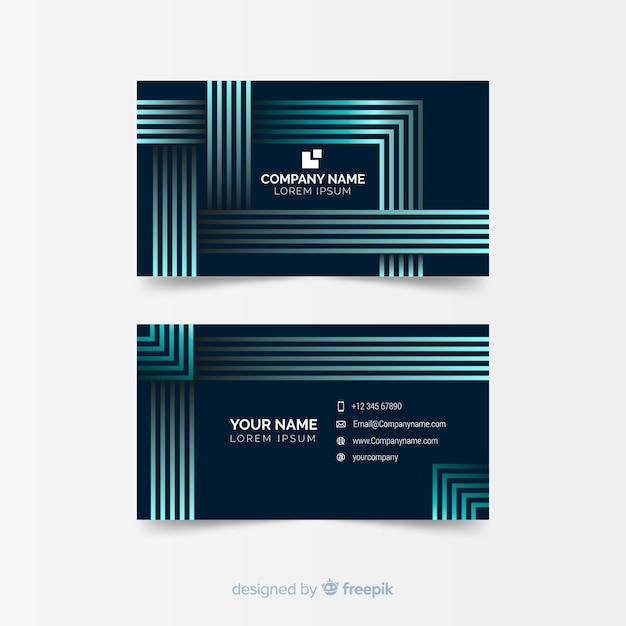 Plantilla de tarjeta de visita geométrica abstracta vector gratuito
