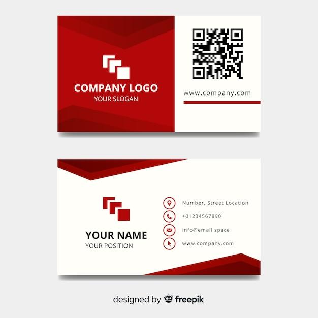 Plantilla de tarjeta de visita geométrica vector gratuito