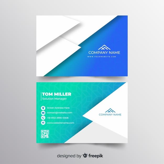 Plantilla de tarjeta de visita geométricas abstracta vector gratuito