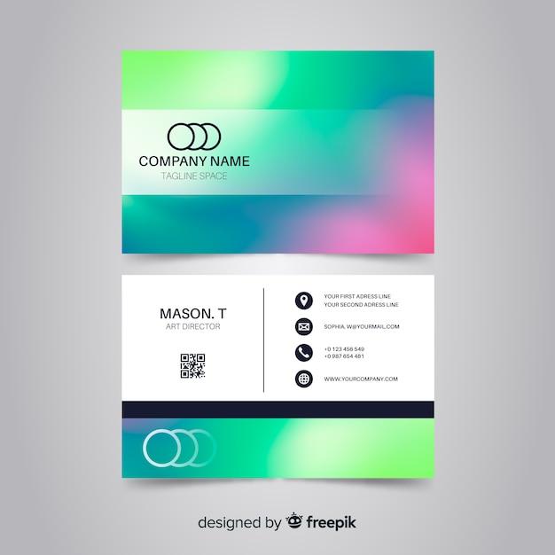 Plantilla de tarjeta de visita gradiente vector gratuito