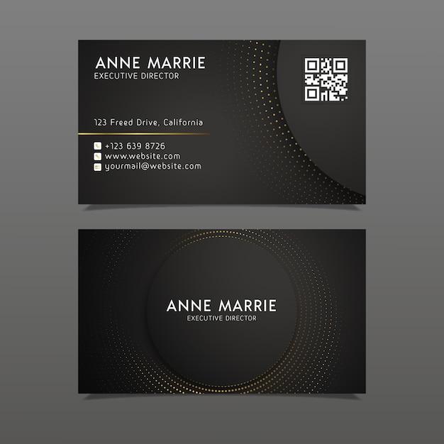 Plantilla de tarjeta de visita de lujo vector gratuito
