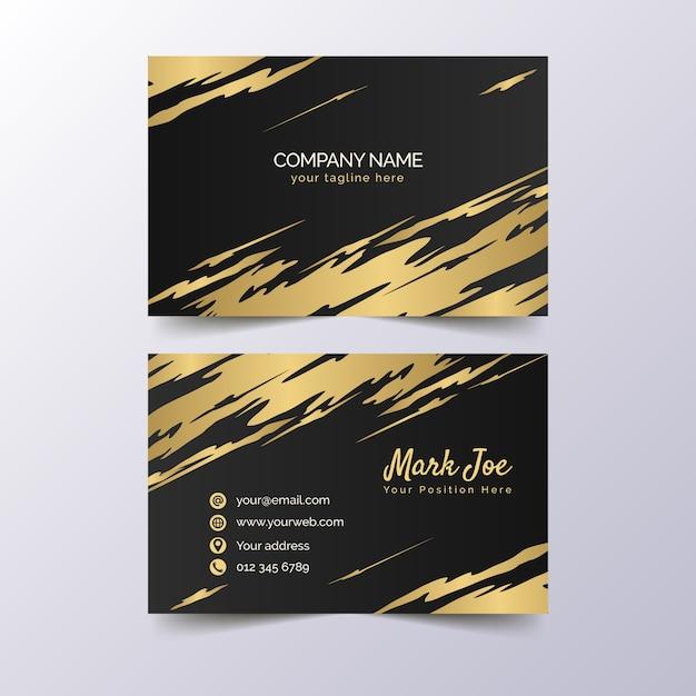 Plantilla de tarjeta de visita - manchas doradas vector gratuito