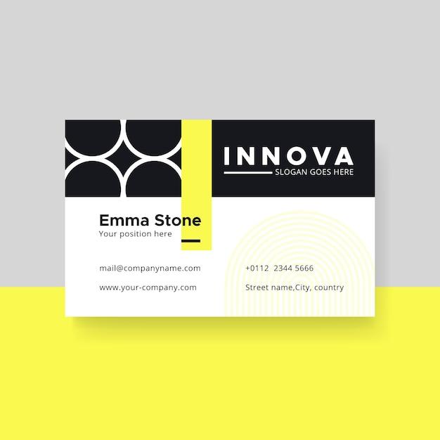 Plantilla de tarjeta de visita minimalista con círculos vector gratuito