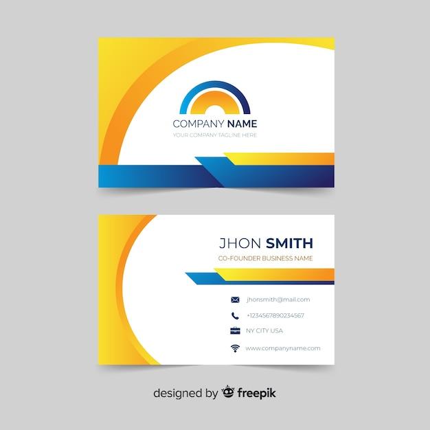 Plantilla de tarjeta de visita moderna abstracta vector gratuito