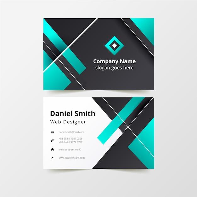 Plantilla de tarjeta de visita moderna vector gratuito
