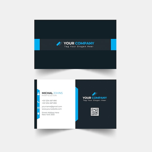 Plantilla de tarjeta de visita - moran Vector Premium