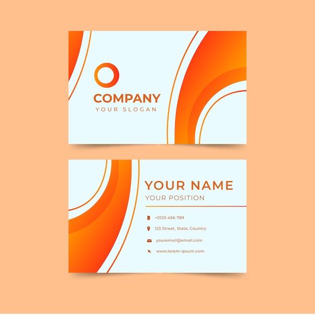 Plantilla de tarjeta de visita naranja abstracta moderna vector gratuito