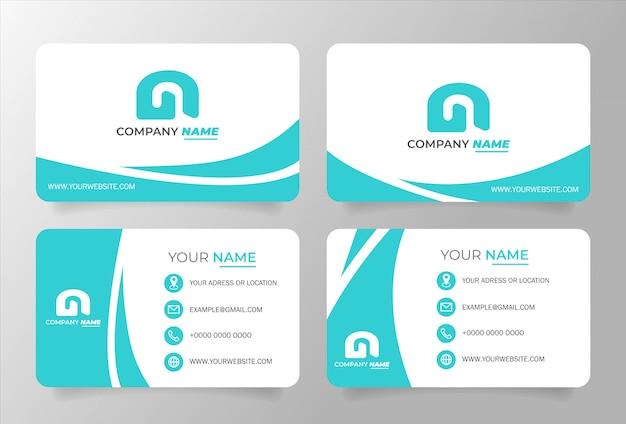 Plantilla de tarjeta de visita tosca blanco. diseño vectorial moderno Vector Premium