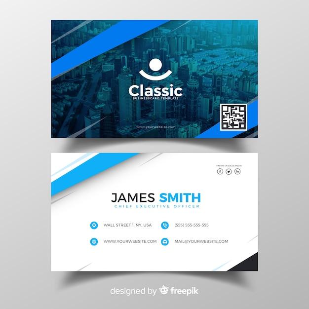Plantilla de tarjeta de visita vector gratuito