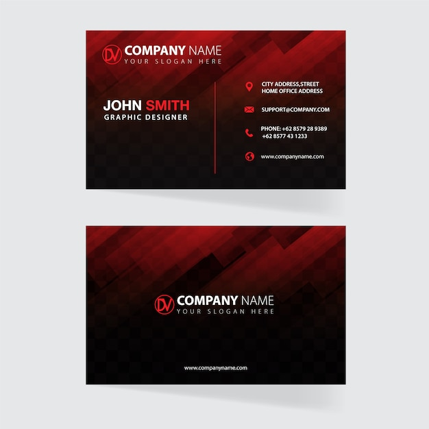 Plantilla de tarjeta de visita Vector Premium