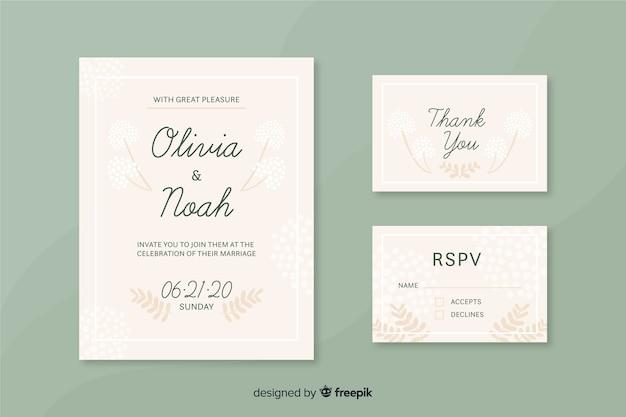 Plantilla De Tarjetas De Invitación De Ceremonia Vector Gratis
