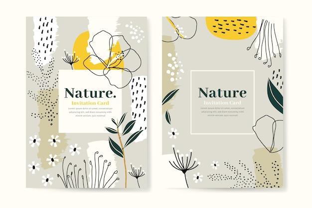 Plantilla de tarjetas tropicales abstractas vector gratuito