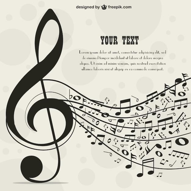 Plantilla para texto con temática musical vector gratuito