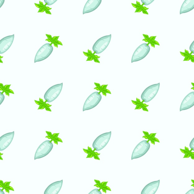 Plantilla transparente de rábano, ilustración de rábano para patrón textil Vector Premium