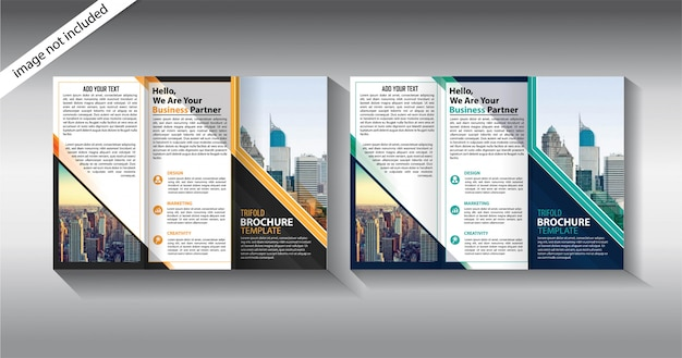 Plantilla tríptico para negocios de promoción Vector Premium