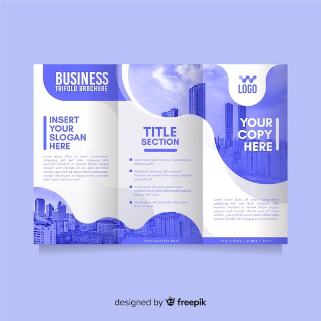 Plantilla de tríptico de negocios vector gratuito