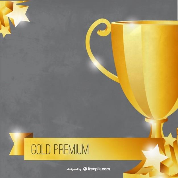 Plantilla trofeo premium de oro | Descargar Vectores gratis