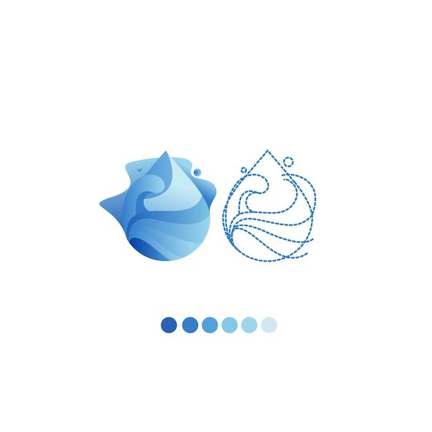 Plantilla de vector de diseño de logotipo gota de agua. Vector Premium