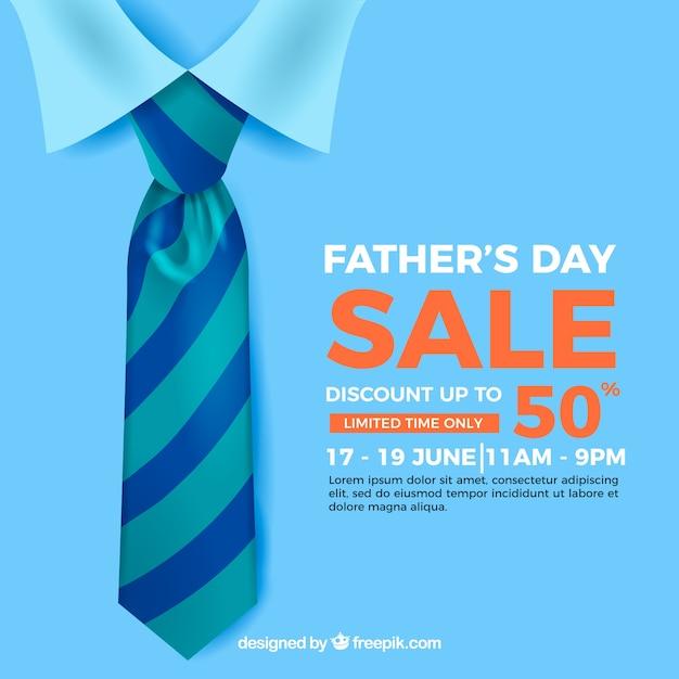 Plantilla de venta del día del padre vector gratuito