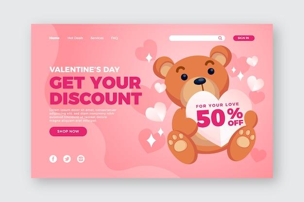 Plantilla de venta especial del día de san valentín vector gratuito