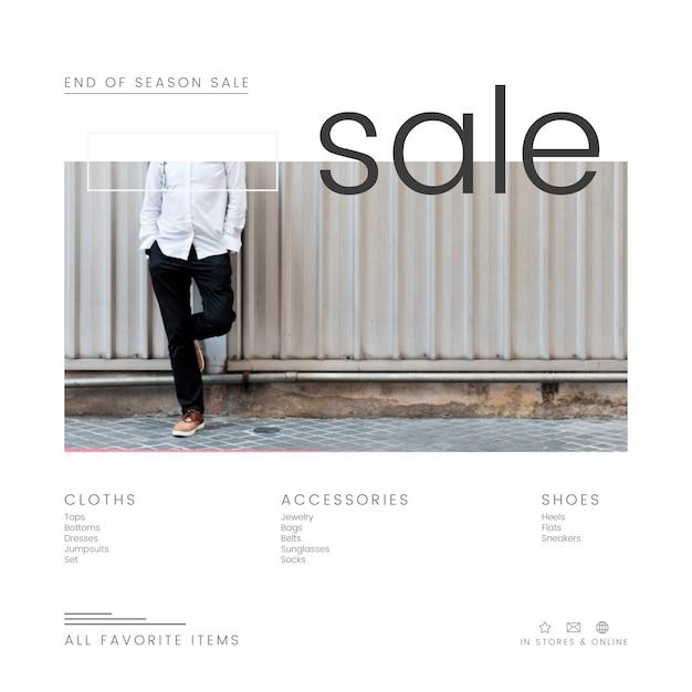 Plantilla de venta de moda vector gratuito