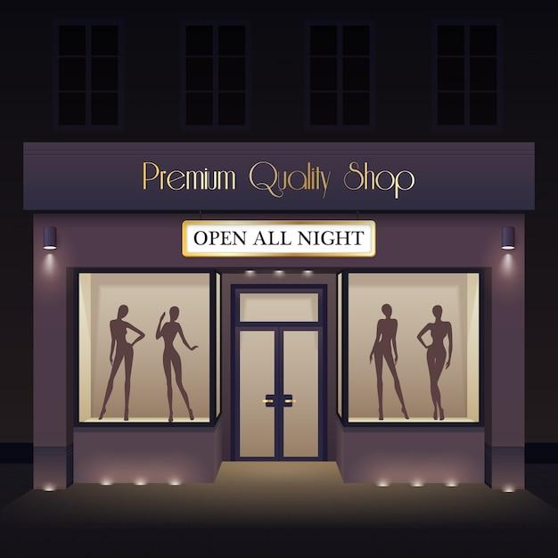 Plantilla de vista frontal de la tienda de belleza vector gratuito