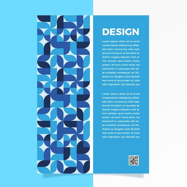 Plantilla de volante abstracto azul clásico vector gratuito