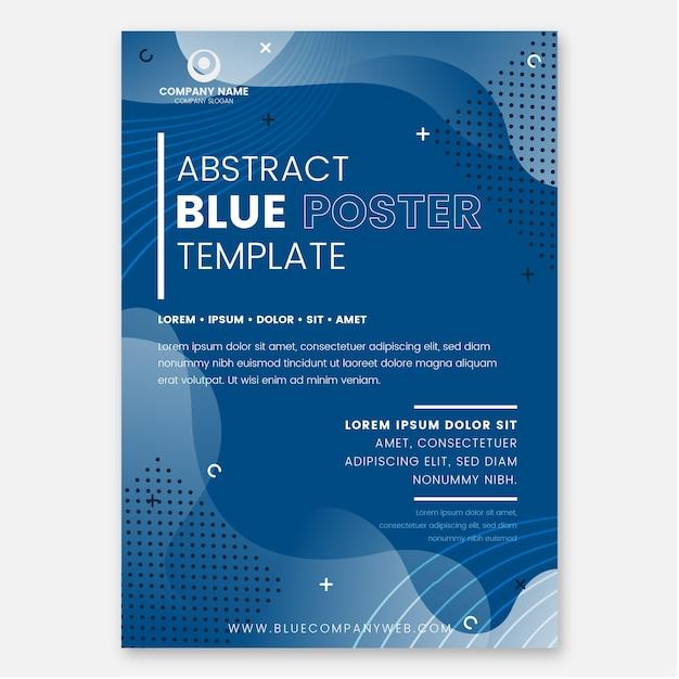 Plantilla de volante azul clásico abstracto Vector Premium