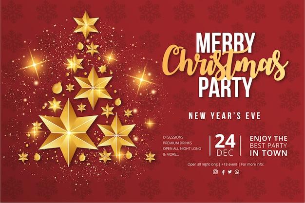 Plantilla de volante de feliz fiesta de navidad vector gratuito