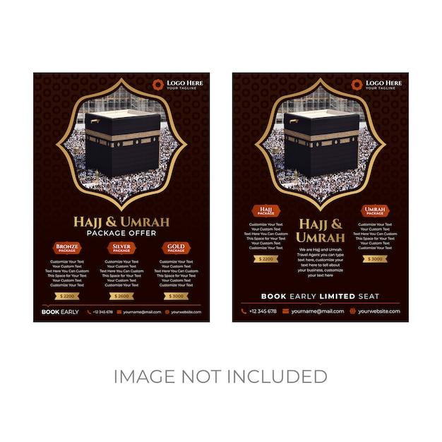 Plantilla de volante hajj y umrah Vector Premium