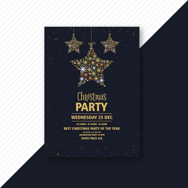 Plantilla de volante de invitación de fiesta de navidad vector gratuito
