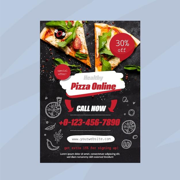 Plantilla de volante de restaurante de comida saludable vector gratuito