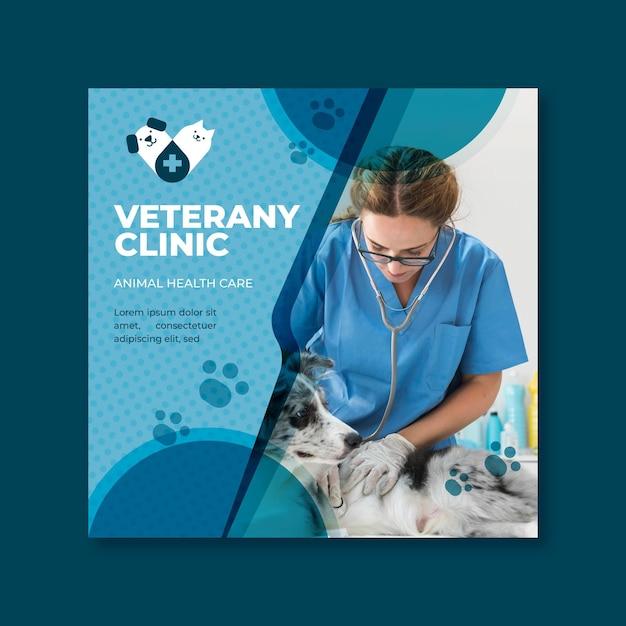 Plantilla de volante veterinario vector gratuito
