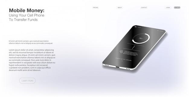 Plantilla web y móvil. diferentes aplicaciones de fitness con pantallas ui, ux, gui Vector Premium