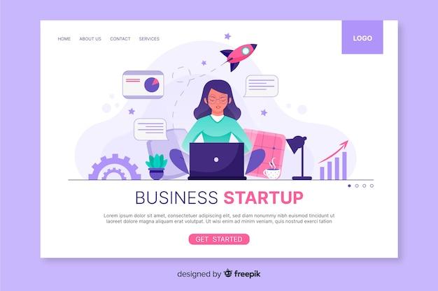 Plantilla web de página de inicio vector gratuito