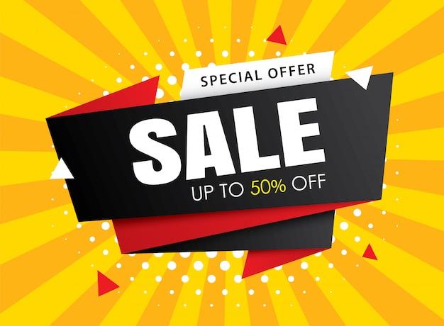 Plantillas de banner de venta. úselo para carteles, compras, correo electrónico, anuncios. Vector Premium