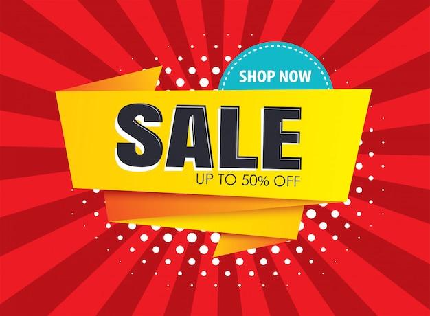 Plantillas de banner de venta. utilícelas para carteles, compras, correo electrónico, boletines informativos, anuncios. Vector Premium