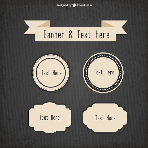 Plantillas de banners para texto estilo retro   Descargar Vectores ...