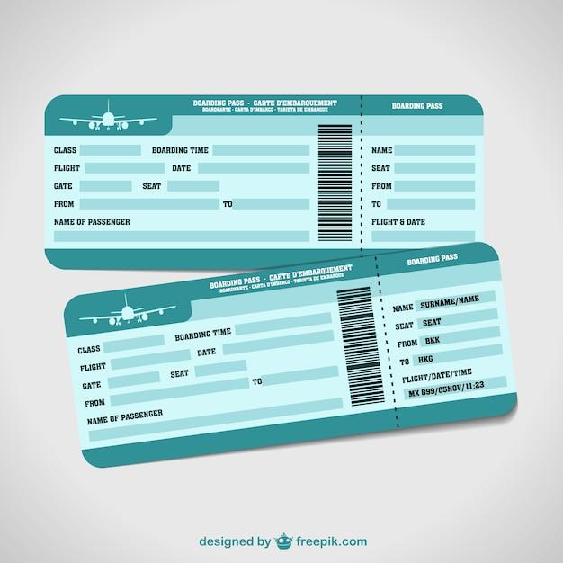 Plantillas de billetes de avión | Descargar Vectores gratis